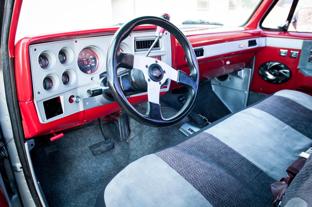 1984 Chevy Truck Custom Interior | galleryhip.com - The Hippest Galleries!