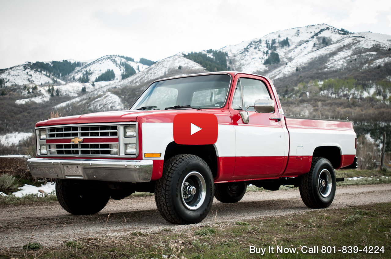 1985 chevy c k10 silverado short bed shop truck 4wd restored beautiful 3 stage red white custom interior fully performance tuned v8 305 motor